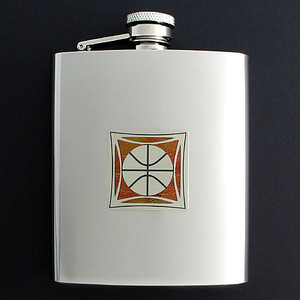 Basketball Flask 8 Oz. Stainless Steel