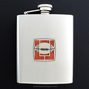 Football Flasks 8 Oz. Stainless Steel