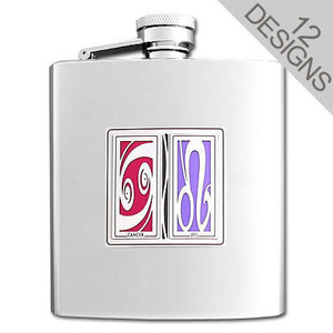 Horoscope Sign Compatibility Flasks 8 Oz