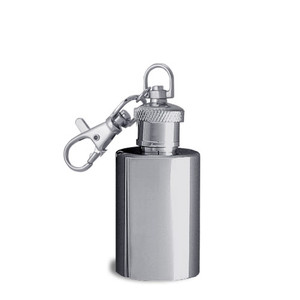 1 Ounce Round Key Chain Flask for Belt