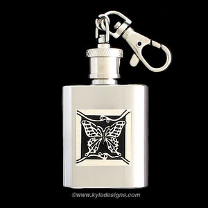 Butterfly Keychain Flasks