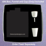 Gift Box Set for 6oz or 8oz Flask with Funnel & Shot Cup