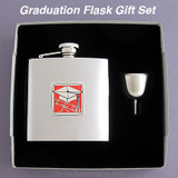 Graduation Gift Flask Set 6 Oz