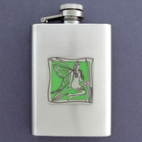 Green Fairies 3 Oz. Stainless Steel Absinthe Flasks
