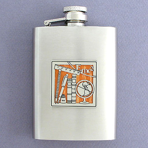 Books and Learning 3 Oz. Stainless Steel Flasks