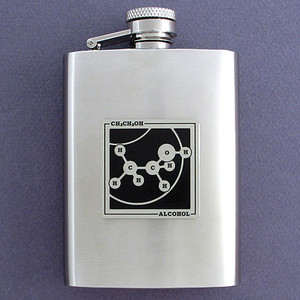 3 Oz Brushed Stainless Steel Alcoholic Drink Flasks