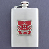 3 Oz. Drinking Flask with Blood Drop