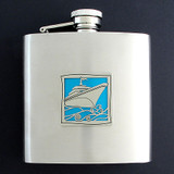Personalized 6 Oz Yacht Liquor Flasks