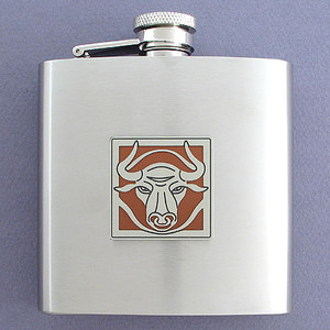 Bull Liquor Flasks - Personalized 6 Oz.