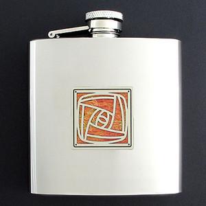 Personalized 6 Oz Crafts Rose Liquor Flasks