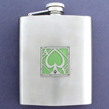 Young Ace 8 Oz. Stainless Steel Flask