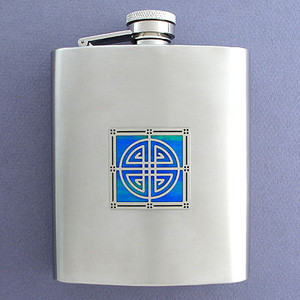 Stainless Steel Celtic Flask in 8 Oz.