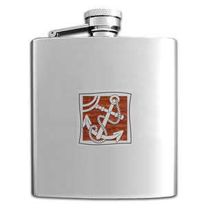 Anchor Flask in 8 Oz. Stainless Steel