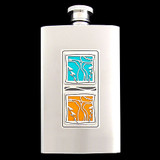 """Sisters For Life"" 3 Oz Stainless Steel Flasks"