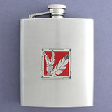 Indian Feathers Flask 8 Oz. Stainless Steel