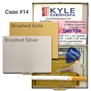 Classic Metal Wallet Cigarette Cases - Large Interior No Arms
