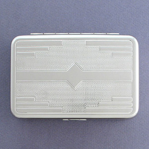 Embossed Compact Metal Boxes - Engraved