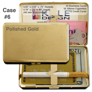 Deep Long Metal Cigarette Case Wallet - Double-sided, Holds 100's