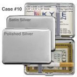 Deep Cigarette Case - Silver