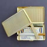 Gold Modern Grid Cigarette Case Metal Wallet