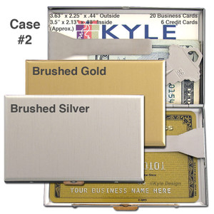 Satin Metal Business Networking Hip Wallet - Double-sided