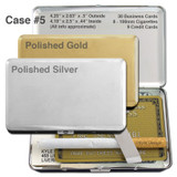 Long Thin Metal Wallet Cigarette Case for Credit Cards & 100s