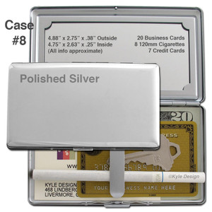 Metal Credit Card Wallet or 120mm Cigarette Case with Mirror