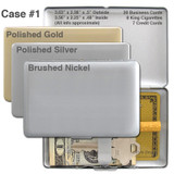 Small Metal Wallet - Gold, Silver, Nickel
