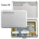 Slim Wallet Cigarette Cases - Small Thin Crush Proof, Elastic Band
