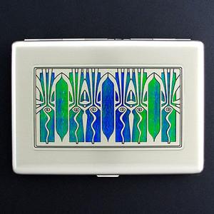 Retro Art Deco Large Metal Credit Card Wallet Kyle Design