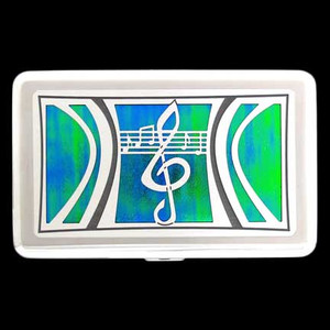 Music Cigarette Case Wallet in Rainforest Green