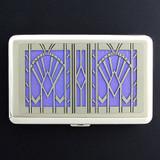 Art Deco Large Cigarette Case or Metal Credit Card Wallet