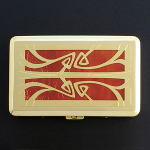 Art Nouveau Large Cigarette Cases and Credit Card Wallets