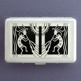 Kokopelli Large Credit Card Wallet or Cigarette Case
