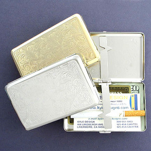 Florentine Credit Card Wallet or 100's Cigarette Case - Double-sided