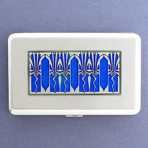 Retro Art Deco Wallets for Credit Cards or Cigarettes