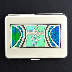 Treble Clef Credit Card Wallets or Cigarette Cases