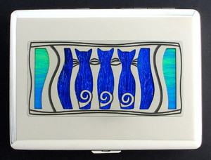 Metal Wallet with Cats