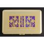 Flower Design Metal Case - Gold & Purple