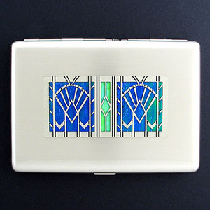 Art Deco Fans Metal Cigarette Case Wallets