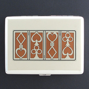 Poker Player Cigarette Case Metal Wallet