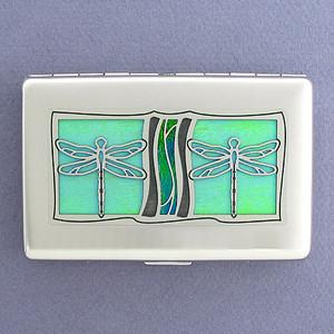 Dragonflies Decorative Cigarette Case Metal Wallets