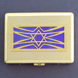 Jewish Metal Credit Card or Cigarette Case Wallets
