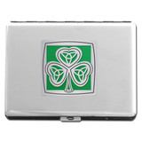 Shamrock Cigarette Case or Credit Card Wallet