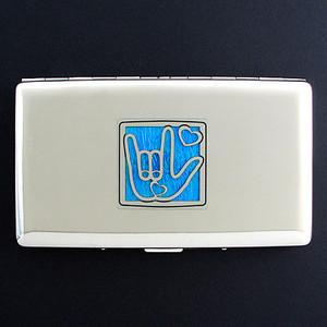 I Love You Metal Cigarette Case Wallets