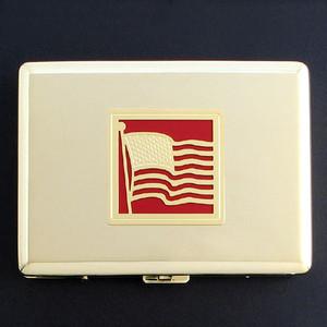 American Flag Metal Cigarette Case Wallet