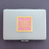 Snowflake Credit Card Wallets or Cigarette Cases