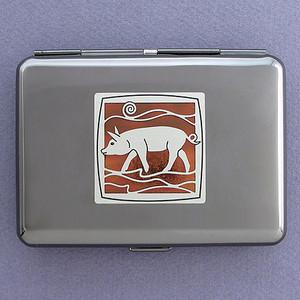 Pig Credit Card or Cigarette Case Wallet