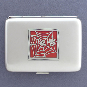 Spider Metal Cigarette Case Wallet