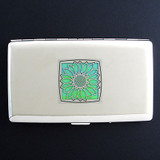 Sunflower Metal Cigarette Case Wallet